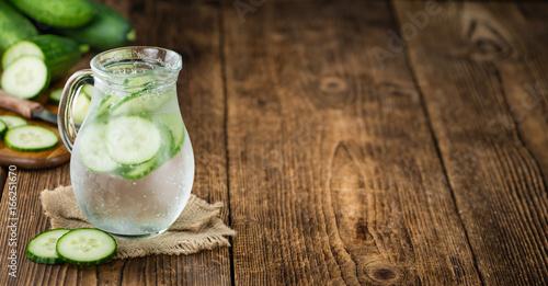 Cucumber Water selective focus