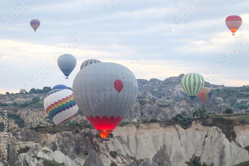 Hot Air Balloons in Cappadocia Valleys