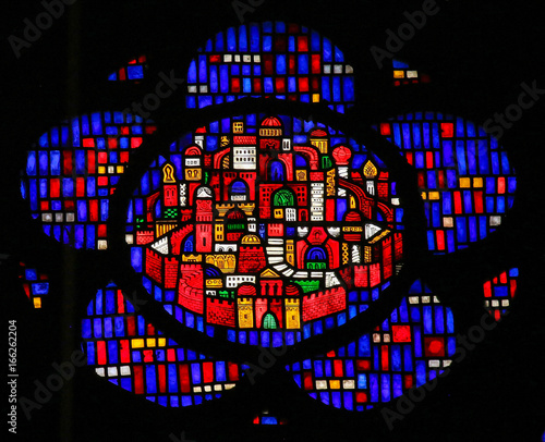 Stained Glass in Worms - New Jerusalem фототапет