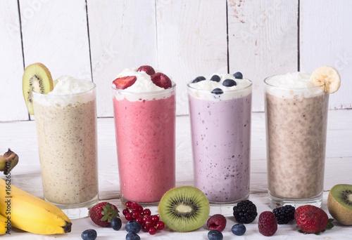 Garden Poster Milkshake Milk shake with berries