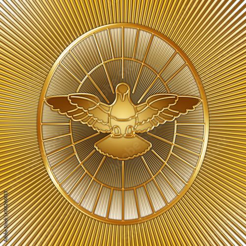 Fényképezés Holy Spirit symbol, Saint Peter, Rome, graphic elaboration, illustration