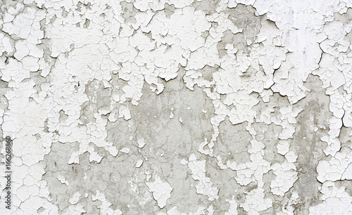 Fotomural  Old cracked painted plaster wall