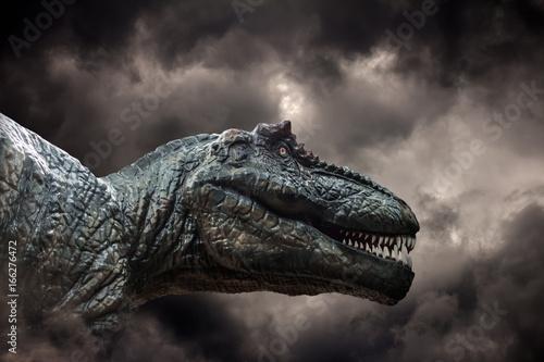 Tyrannosaurus rex in the storm