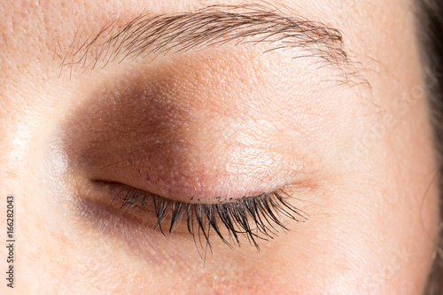 Photo Close uo of closed eye of woman