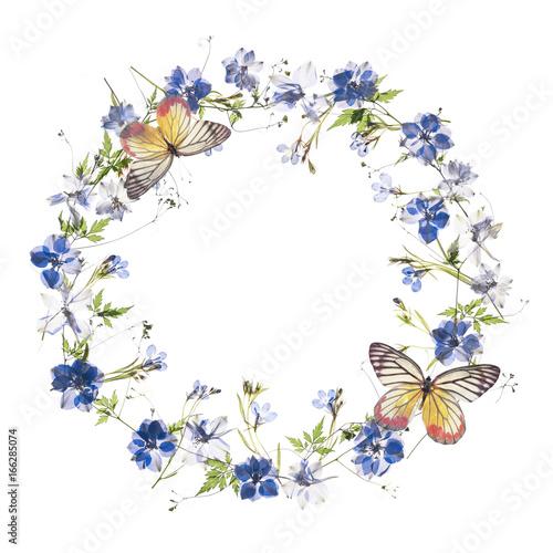 Foto op Plexiglas Bloemen Floral frame