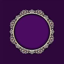 Oval Frame Of Gold And Silver,...