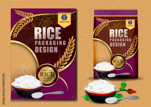 Rice Package Thailand food Logo Products and Fabric