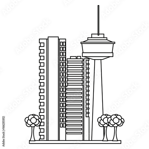 Fototapety, obrazy: buildings urban business or residence and tree nature