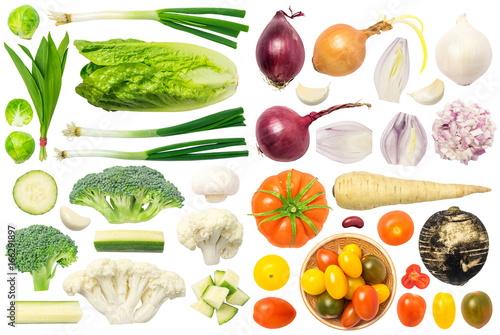 Recess Fitting Vegetables Vegetables Isolated on White Background Set 2