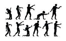 Vector Silhouettes Of Zombies ...