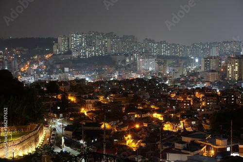 Zdjęcie XXL Nocny widok z Laneshan Park