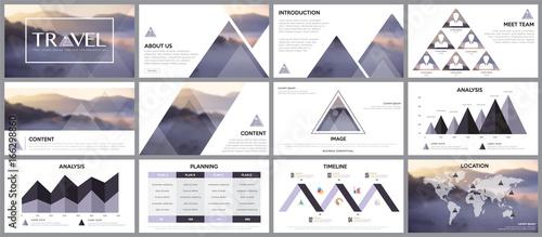 Fototapeta Design element of infographics for presentations templates. obraz