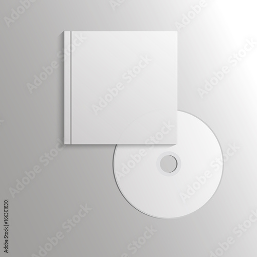 Template Compact Disk With Cover Eps 10 Ilration Design