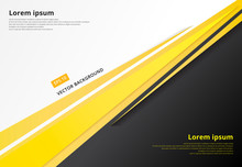 Template Corporate Concept Yellow Black Grey And White Contrast Background. Vector Graphic Design Illustration