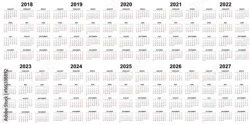 5 Year Calendar 2021 To 2025 | Lunar Calendar