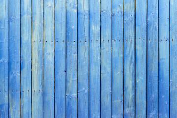 blauer Holzzaun Hintergrund