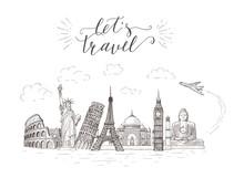 World Travel And Sights. Touri...