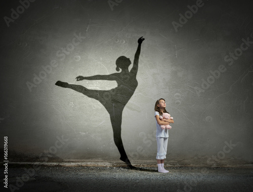 I will become ballerina . Mixed media Wallpaper Mural
