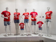 Mannequins In The Store. Sale ...
