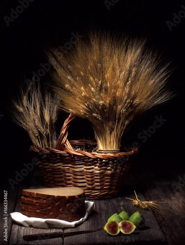 Fotografie, Obraz  Grano, pane e fichi