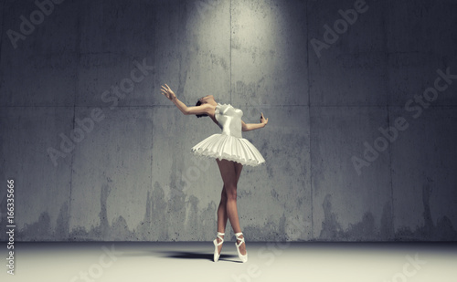 Young and beautiful ballerina Canvas Print