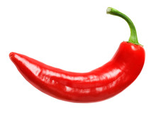 Red Hot Chilly Pepper Isolated On White Background