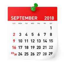 September 2018 - Calendar
