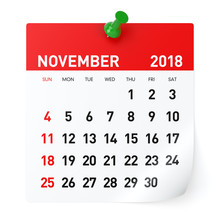 November 2018 - Calendar