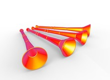3d Illustration Of Vuvuzela. W...