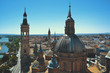 El Pilar Cathedral Domes From Above
