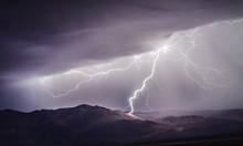 Lightning Strike On Towne Pass In Death Valley National Park