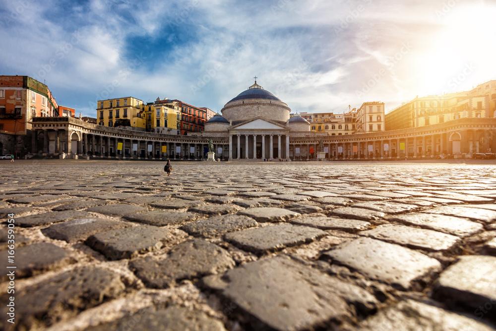 Fototapety, obrazy: Piazza del Plebiscito in Napoli, Italy. Travel destination