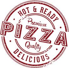 Vintage Pizza Stamp Sign