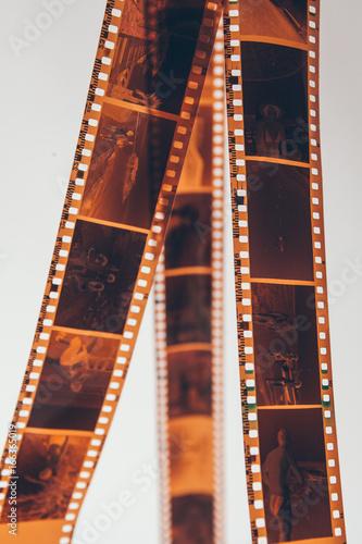 Old, used camera film