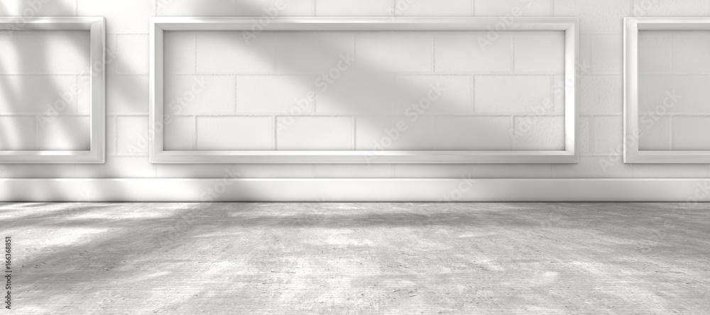 Fototapeta Arquitectura interior de casa.Fondo de pared y suelo de madera. Luz de sol a traves de la ventana de la habitación