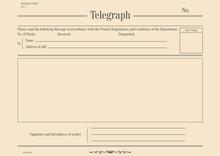 Vintage Telegraph Form. Flat V...