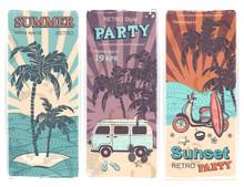 Vintage Summer And Travel Bann...