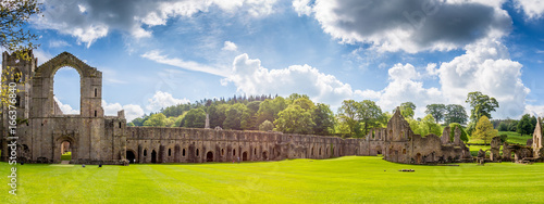 Garden Poster Northern Europe Fountains Abbey Ripon in North Yorkshire