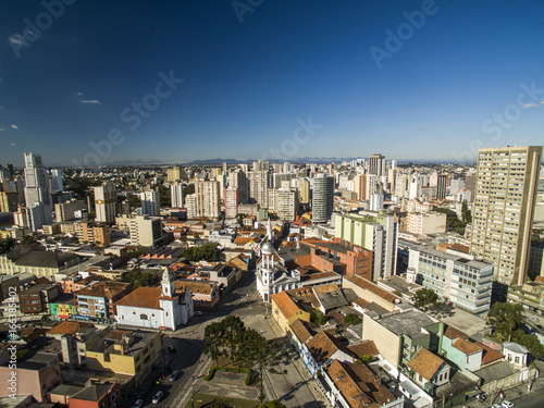 Printed kitchen splashbacks South Africa Aerial view of Curitiba cityscape, Parana State, Brazil. July, 2017.