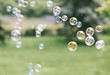 Bubbles on the nature background