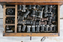 Old Wood Drawer Filled With Vi...