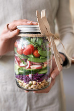 Fresh Colorful Salad Sealed In...