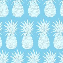 Vector Vintage Pineapple Seamless Pattern