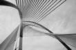 Leinwanddruck Bild - Modern Bridge Architecture