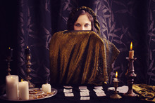 Young Woman With Divination Ca...