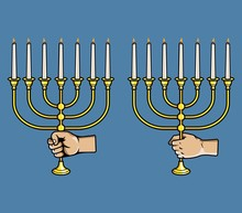 Hand Grab  Jewish Candle Stick