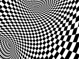 fototapeta 3D czarno biała abstrakcyjna iluzja