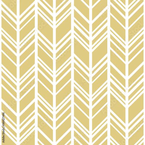 Chevron background in gold and white  Seamless vector