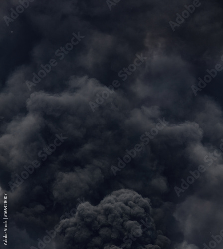 Poster Fumee black smoke from a fire