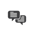 Speech bubbles icon vector, filled flat sign, solid pictogram isolated on white. Comments symbol, logo illustration. Pixel perfect vector graphics